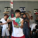 Manny Pacquiao looks sharp at media workout