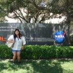 Elisha Marquez, one of the only selected few Bill Gates Millennium scholars, at the Jet Propulsion Laboratory where she's invited to intern this summer with pay (stipend).