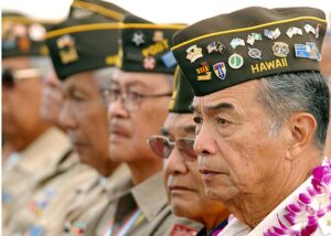 "HONOLULU, Hawaii (April 6, 2009) Members of the Veterans of Foreign Wars attend a memorial ceremony April 6 at the National Memorial Cemetery of the Pacific. The ceremony commemorated the 67th Philippine national holiday ""Araw ng Kagitingan"" or ""Day of Valor,"" and honored Filipino-American service members during World War II. (U.S. Navy photo by Mass Communication Specialist 1st Class Michael Hight/Released)"