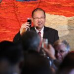 SYDNEY, Australia –President Benigno S. Aquino III offers a toast during the State Luncheon hosted in his honor by Premier of New South Wales the Honorable Barry O'Farrell MP at the Strangers' Dining Room of the Parliament House here on Thursday (October 25, 2012) in connection with his State Visit to Australia. The President's visit aims to pursue closer and broader relations based on a long history of cooperation, common interests and shared values between the Philippines and Australia. (MNS photo)