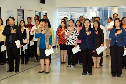 Barber Embassy : ... Consulate General in Los Angeles during the singing of the Philippine