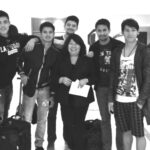 The Star Magic Bida Boys (From L: Actress Maja Salvador, Xian Lim, Jason Abalos, Rayver Cruz, KATZ's executive producer Jackie Regala-Katigbak, Sam Milby, Enchong Dee and Gerald Anderson.)