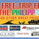 Free trip for two to the Philippines raffle drawing on December 20th