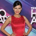 Actresses Maggie Grace & Victoria Justice wear Oliver Tolentino