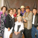 Tia Mameng is shown with friends (from left) Myrna Aquitania, Annie Rivera, daughters Stella and Ebit Rivera and friends Victor, Danny Bajet and her son-in-law.