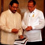 Aquino receives Daly City Mayor Raymond Buenaventura