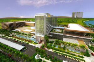 The $1.2 billion Solaire Manila Resorts (design model above) is one of four gaming operations licensed at Manila's bayside Entertainment City, a government project designed to compete with Macau, Las Vegas and Singapore as a gaming hub.