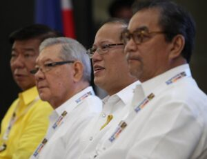President Benigno S. Aquino III graces the Opening Ceremony of the 2013 Philippine M.I.C.E. Conference (MICECON 2013) at the 3rd Floor, SMX Convention Center, SM Lanang Premiere in Davao City on Thursday (March 07, 2013). The MICE Conference is a prestigious gathering of key players in the travel and tourism industry. The conference will provide the Host an opportunity to showcase its destinations to approximately 400 stakeholders in the tourism industry comprised of: travel agents, tour operators, hoteliers, resort owners, professional congress/ exhibition/event organizers, association/corporate executives, destination management companies, airline representatives, local government officials, academe, students and the media. In photo are Senator Franklin Drilon, House Speaker Feliciano Belmonte, Jr., and Tourism Secretary Ramon Jimenez, Jr. (MNS Photo).