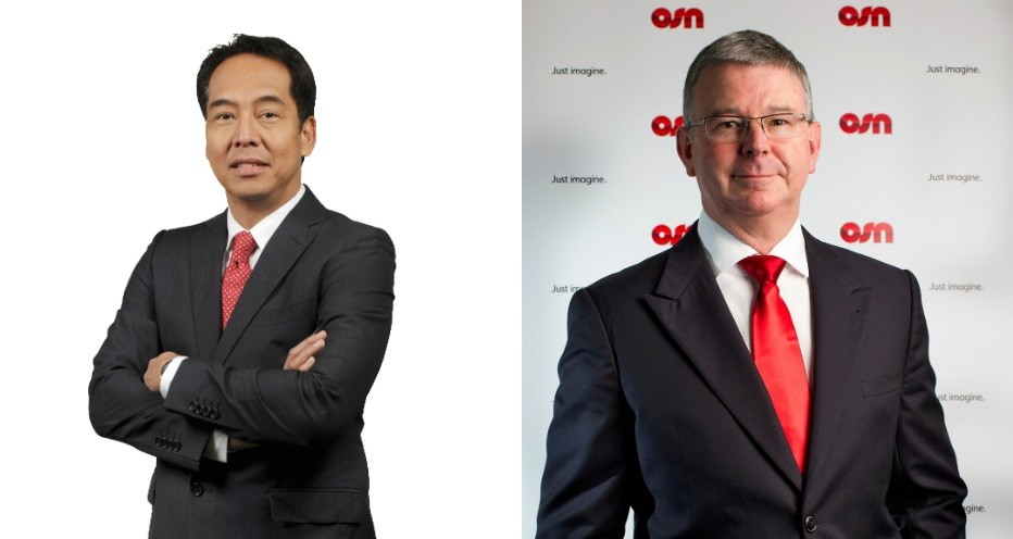 "Left, ABS-CBN Managing Director Edgardo ""Egay"" Garcia. Right, OSN  CEO David Butorac. (TFC/OSN photos)"