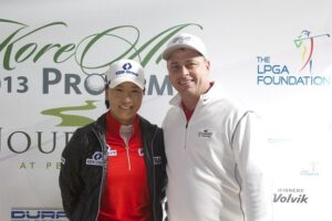 Mr. Bill Anderson (Director of Player Development, Pechanga Resort & Casino) with LPGA Pro Se Ri Park