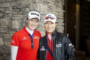 LPGA Pro Chella Choi and Se Ri Park (She was inducted into the World Golf Hall of Fame in November 2007. )