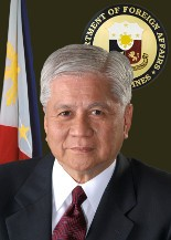 Albert F. Del Rosario Secretary of Foreign Affairs (Photo courtesy of www.philippineembassy-usa.org)