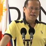 President Benigno S. Aquino III giving speech during the inauguration of the newly constructed Passenger Terminal Building and pier extension of Manguino-o Port in Calbayog City, Western Samar. (Screenshot courtesy of www./rtvm.gov.ph)