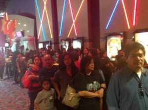 "moviegoers line up for ""It Takes A Man and a Woman"" in Milpitas, California.(Photos courtesy of Jay Diaz, Bradford Adkins and ABS-CBN Star Cinema)"