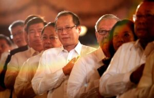 President Benigno S. Aquino III leads the singing of the National Anthem during the ceremonial signing of Republic Act No. 10533 or the Enhanced Basic Education Act of 2013 at the Rizal Ceremonial Hall of the Malaca?n Palace on Wednesday (May 15). The K to 12 program covers Kindergarten and 12 years of basic education (six years of primary education, four years of Junior High School, and two years of Senior High School) to provide sufficient time for mastery of concepts and skills, develop lifelong learners, and prepare graduates for tertiary education, middle-level skills development, employment, and entrepreneurship. In photo are Executive Secretary Paquito Ochoa, Jr., Senators Ralph Recto, Franklin Drilon and Edgardo Angara, House Speaker Feliciano Belmonte, Jr., and Representatives Rosenda Ann Ocampo and Neptali Gonzales II. (MNS photo)