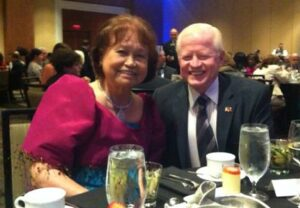 Ambassador Jose L. Cuisia Jr. with Dr. Nini Bautista, recipient of the Global Leader Award at the Mayor's International Cabinet Awards in Charlotte, North Carolina. (Philippine Embassy Photo by Lilibeth Almonte-Arbez)