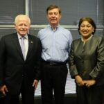 Ambassador Jose L. Cuisia Jr. with Arbovax President and Chief Executive Officer Malcolm Thomas and Philippine Commercial Counselor Maria Roseni Alvero. (Philippine Embassy Photo by Lilibeth Almonte-Arbez)