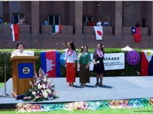 Photo above shows Consul General Maria Hellen Barber De La Vega addressing attendees of the Asian and Pacific American Heritage Day.