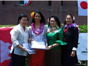Photo above (L-R), shows Consul General Maria Hellen Barber De La Vega awarding Certificate of Recognition to LACAAEA President Jackie Guevarra.