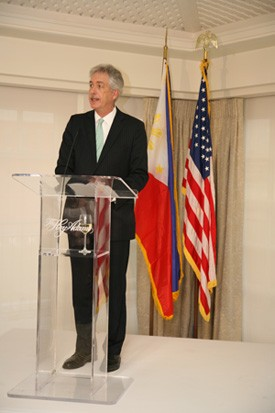 Deputy Secretary of State William Burns deliver his remarks during the Independence Day Reception at the Hay Adams Hotel in Washington, D.C. (Philippine Embassy Photo by Elmer G. Cato)
