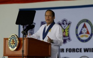 "President Benigno S. Aquino III addresses the 66th Anniversary of the Philippine Air Force (PAF) at the Haribon Hangar, Air Force City in Clark Air Base, Pampanga on Monday (July 01, 2013). This year's celebration is anchored on the theme ""Makabagong Lakas, Matatag na Bukas.PAF was founded on July 1, 1947- two years after the end of World War II. It traces its lineage to the Philippine Army Air Corp, which was established in 1941.  (MNS photo)"