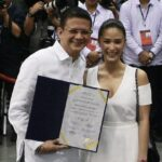No wedding bells yet for Heart, Chiz