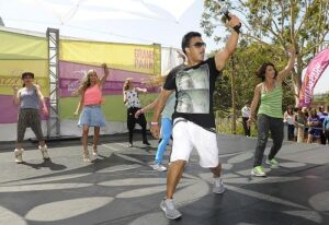 "(l-r) Husband and wife choreographers Napoleon and Tabitha Dumo, lead Grand Park guests in a Hip-Hop Master Class as thousands danced together for National Dance Day. Grand Park visitors joined ""So You Think You Can Dance's"" Nigel Lythgoe and Adam Shankman, and other popular dance celebrities as part of a nationwide grassroots initiative that promotes the joy and benefits of dance for everyone. 7/27/2013Los Angeles California, photos courtesy The Music Center"