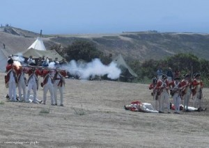 Photo above shows re-enactment of British action in the American Revolutionary War
