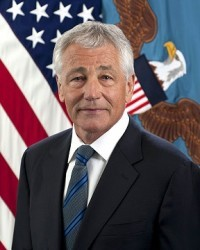 US Defense Secretary Chuck Hagel (photo courtesy of http://en.wikipedia.org/wiki/Chuck_Hagel)