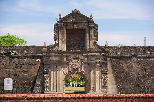 "Located the heart of Manila's history is the walled ""city"" of Intramuros that features Fort Santiago, the site of torture chambers and dungeons. The wall surrounding Intramuros was built during the Spanish Colony."