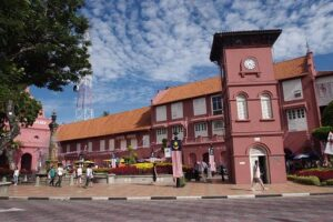 Melaka is a remarkable example of historic colonial town on the Straits of Malacca, where attractions include a replica of an invading Portuguese ship, ancient cannons to protect the fort and edifices built during the Dutch occupation.