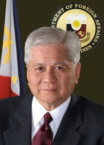 Foreign Affairs Secretary Albert del Rosario