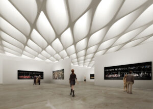 30,000-square-foot, column-free third floor gallery; image courtesy of The Broad and Diller Scofidio + Renfro
