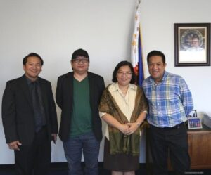 Photo above shows (L-R) Deputy Consul General Daniel Espiritu, Director Erik Matti, Consul General Ma. Hellen Barber De La Vega and Mr. Vicente Perez.