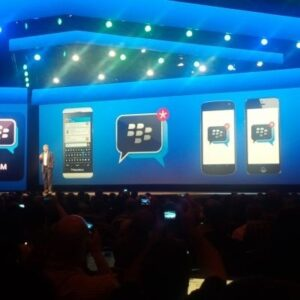 BBM for Android and iOS will arrive this weekend. ©BlackBerry