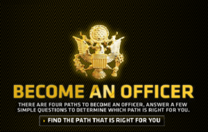 Screen shot of Officeship video from the U.S. Army website.  For information on U.S. military career opportunities and programs, visit www.goarmy.com or call 1-888=550-ARMY (2769).