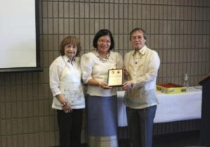 Photo above shows (L-R) Dr. Ludy Ongkeko, Consul General Maria Hellen Barber De La Vega with a plaque of appreciation from JPRMM President Chito Mandap