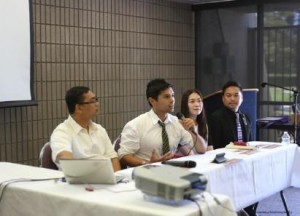 Photo above shows (L-R) Mr. Berwyn Salazar, Mr. Steve Angeles, Ms. Elgin Zulueta and Mr. Marc Anthony Nicolas responding to queries from youth participants