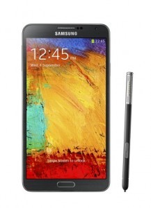 The Samsung Galaxy Note III As well as the Galaxy Note III, the Galaxy SIV, SIV Mini and SIII now also feature region-specific SIM-card locks. ©Samsung