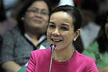 Senator Grace Poe-Llamanzares presenting at a budget hearing of the Senate of the Philippines in September 2012 (photo courtesy of http://en.wikipedia.org/wiki/Grace_Poe)