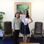 Ms. World 2013 Megan Young Pays Courtesy Call on Philippine Consul General