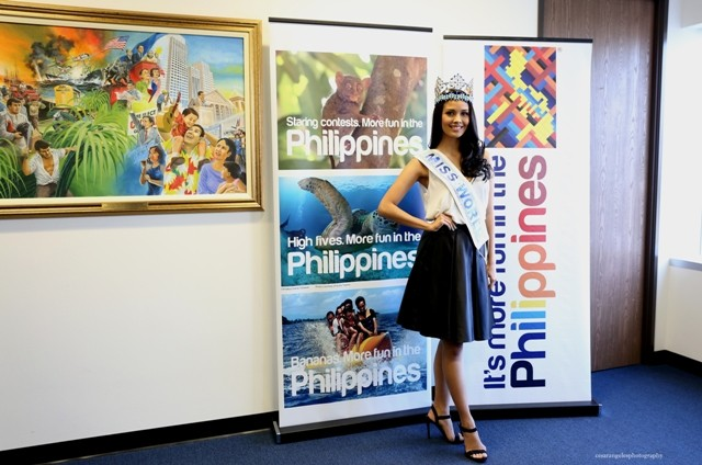 Ms. World 2013, Megan Young at the Philippine Consulate General