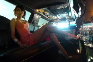 Jeane Napoles, daughter of Janet Lim-Napoles, in a limo as posted in m.spot.ph apparently on her way to one of her evening sorties in Los Angeles, where she reportedly owns a Ritz Carlton apartment near Staples Center. The Philippine government has begun probing her lavish lifestyle as shown in social media and has asked the U.S. government to recover what may belong to Philippine coffers.