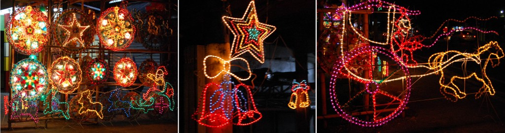 Different kinds of Christmas lanterns with various shapes and sizes are on display for sale along Aguinaldo Hi-ways in Bacoor, Cavite. (MNS photo)