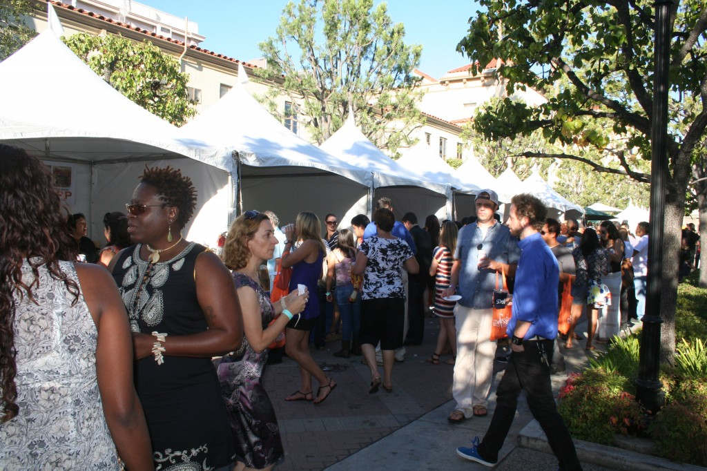 A swarm of Angelenos buzz from one tent to another where the best of Thai cuisine is served.