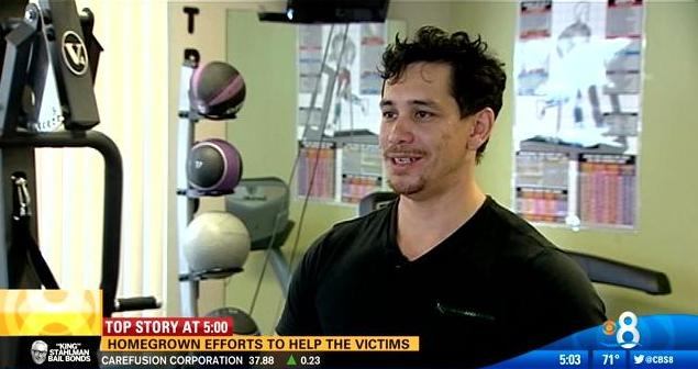 Danny Short, a certified fitness professional and founder of Fitness and Motion (photo screenshot courtesy of www.cbs8.com)