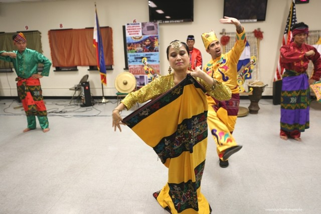"Maranaos in America for Peace, Integration and Advancement (MAPIA) with their dance group Ranun sa Ranao performing a ""Malong Dance"" which demonstrates the many uses of the Malong."
