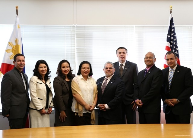 Consul General De La Vega and Regional Administrator Ruben Rosales with labor officials from the WHD Los Angeles and West Covina Offices