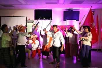 """The scene """"Cry of Pugad Lawin"""" of Andres Bonifacio played by Mon Concepcion inspiring the Katipuneros to prepare for battle against the Spaniards."""