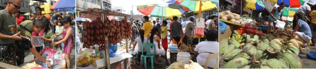 The Tacloban City public market bustles with activity on Thursday (November 21, 2013) as residents were deprived of decent food for many days after super typhoon Yolanda devastated the city last November 8. (MNS photo)